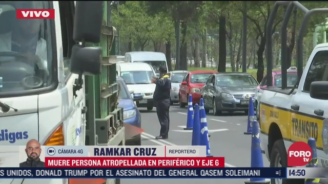 muere atropellado ciclista adulto mayor en periferico y eje