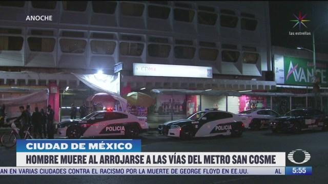 muere hombre tras arrojarse a las vias del metro san cosme en cdmx
