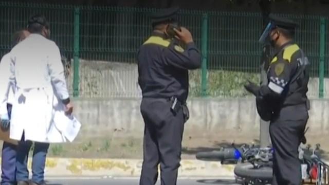FOTO: Muere motociclista tras accidentarse en Periférico, CDMX, el 7 de junio de 2020