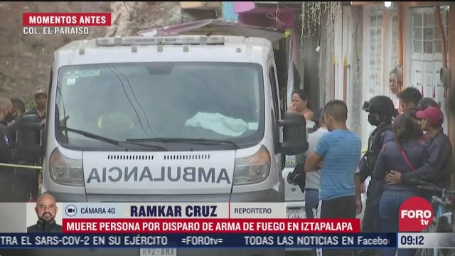 muere persona por disparo de arma de fuego en iztapalapa