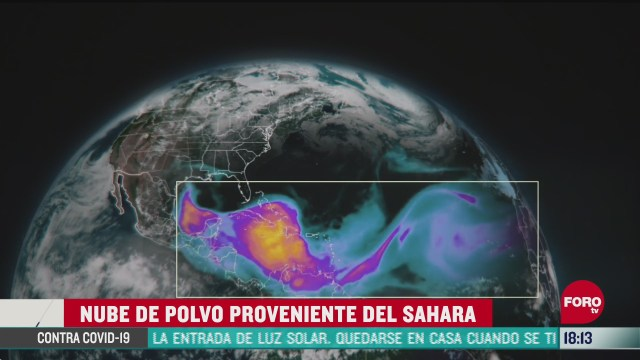 FOTO: nube de polvo del sahara llega a mexico
