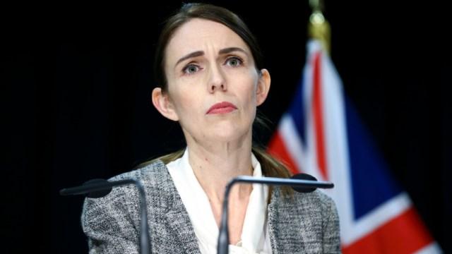 La primera ministra Jacinda Ardern durante una conferencia de prensa. (Foto: Getty Images)