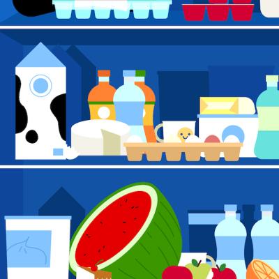 Escondimos 8 objetos en el refrigerador, ¿puedes encontrarlos?