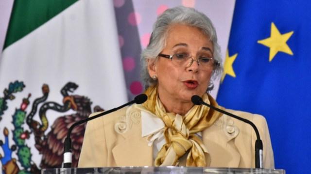 Olga Sánchez Cordero, titular de la Segob. Getty Images