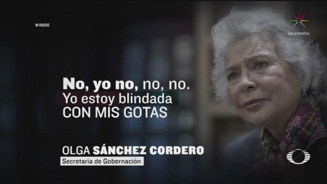 """Olga Sánchez Cordero """"blindada del coronavirus"""" con gotas de nanomoléculas"""
