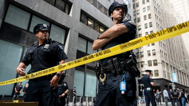 FOTO: Policías de Nueva York, el 21 de junio de 2020