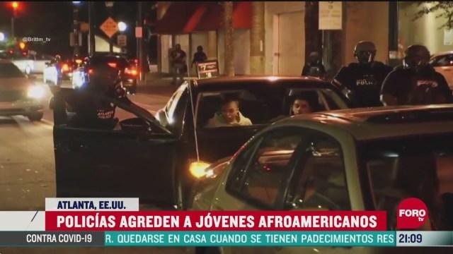 policias agreden a jovenes afroamericanos en atlanta