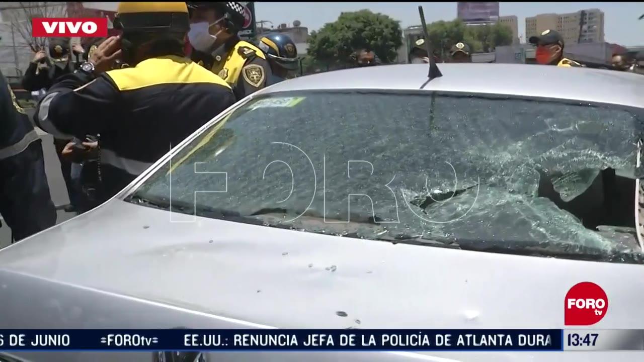 FOTO: policias bloquean calzada de tlalpan y viaducto en cdmx
