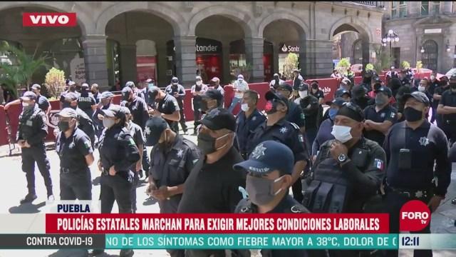 policias de puebla exigen mejores salarios