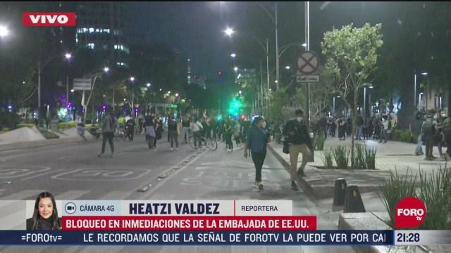 protestan en embajada de eeuu en mexico por muerte de george floyd