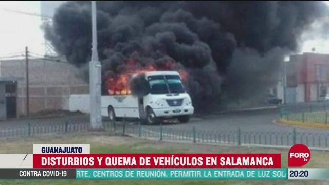 FOTO: 20 de junio 2020, queman vehiculos y se registran disturbios en guanajuato