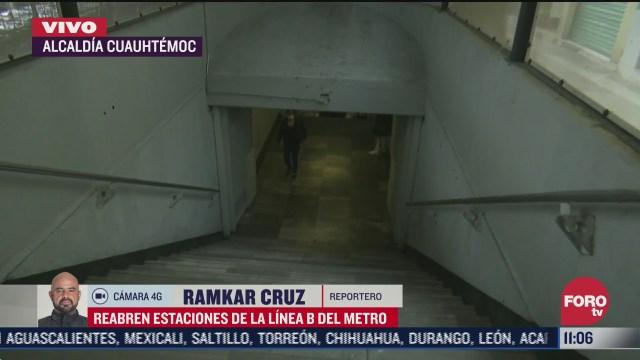 Reabren estaciones de la Línea B del Metro en CDMX