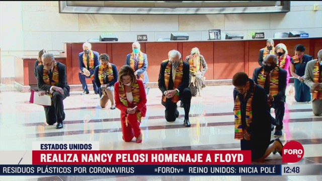 realiza nancy pelosi homenaje a george floyd