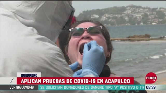 FOTO: 27 de junio 2020, realizan aplicacion de pruebas covid 19 a la poblacion en acapulco
