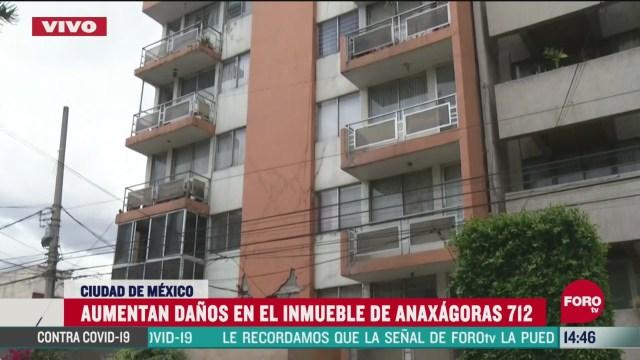 reportan danos graves en edificio de anaxagoras 712 en la narvarte tras sismo