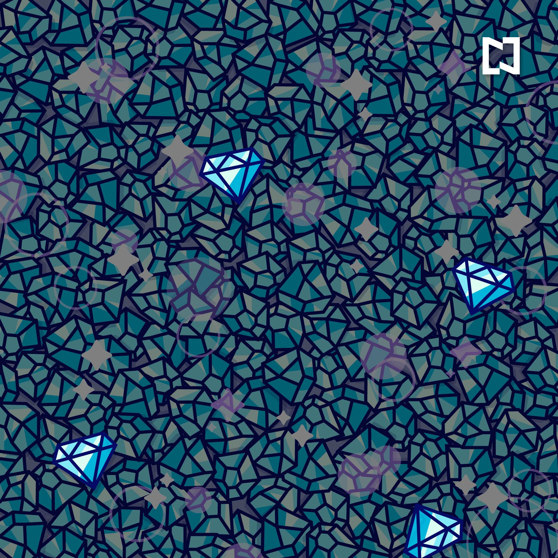ilustracion lineas diamantes azules