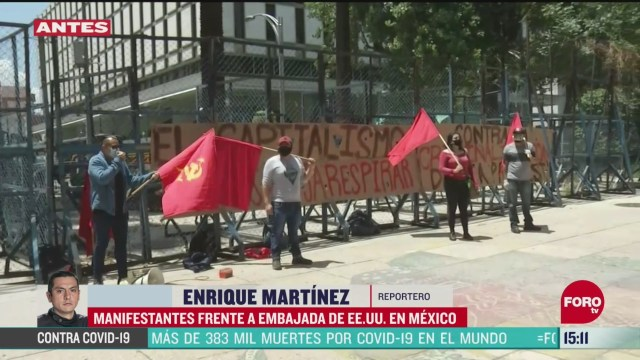 FOTO: se manifiestan contra el racismo en embajada de eeuu en mexico