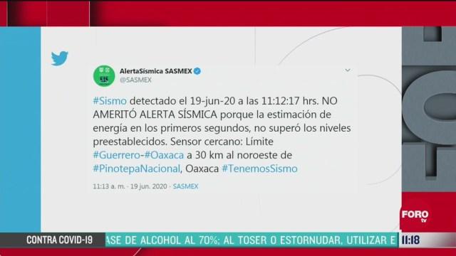se registra sismo en pinotepa nacional en oaxaca