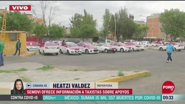 semovi ofrece informacion a taxistas sobre apoyos