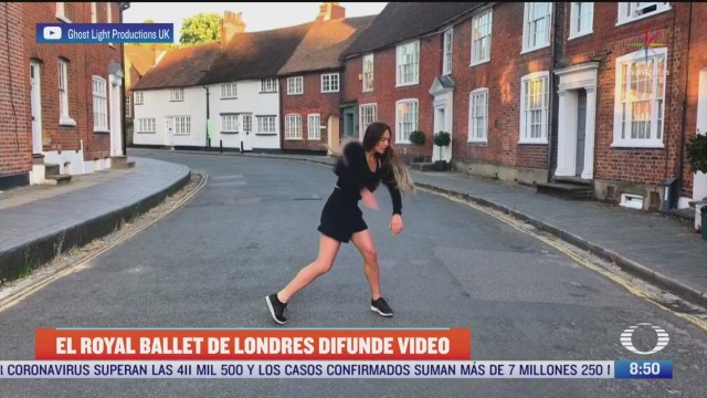 solistas del royal ballet de londres bailan en calles vacias del reino unido