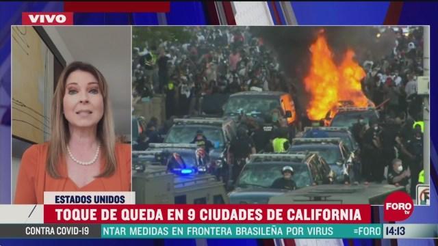 FOTO: suman tres mil detenidos en california por protestas ante muerte de floyd