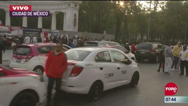 taxistas se manifiestan en avenida juarez y eje central lazaro cardenas en cdmx