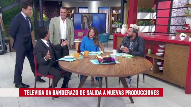 Televisa San Ángel reanuda grabaciones Alfonso de Angoitia y Bernardo Gómez dan banderazo