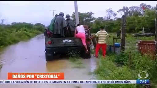 tormenta cristobal se degrada a depresion tropical