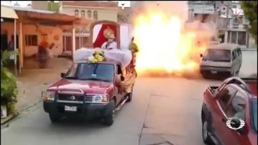 Video Explosión por pirotecnia en Macuspana, Tabascos muerto