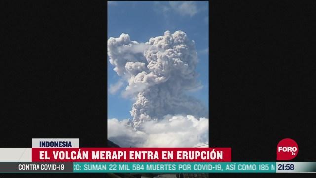volcan merapi hace erupcion en indonesia