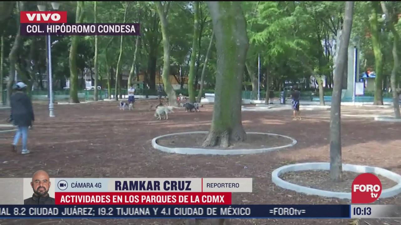 FOTO: 4 de julio 2020, actividades en parques de cdmx reinician por nueva normalidad