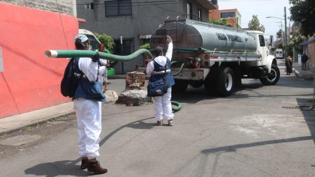 Megacorte de agua en CDMX, pipas de agua