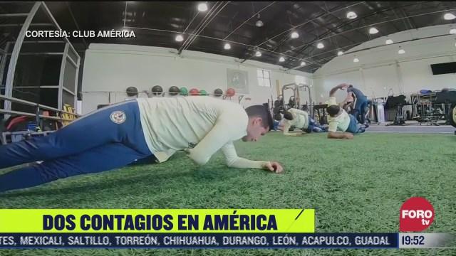aguilas del america reporta dos positivos por covid
