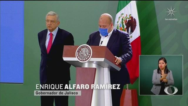 AMLO y Enrique Alfaro gobernador de Jalisco se comprometen a trabajar en unidad