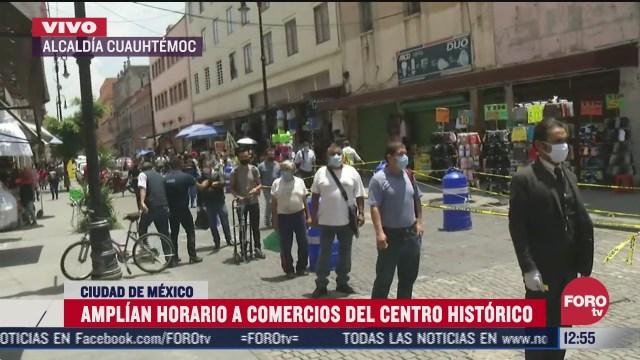 amplian horario a comercios del centro historico