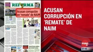 analisis de las portadas nacionales e internacionales del 10 de julio del