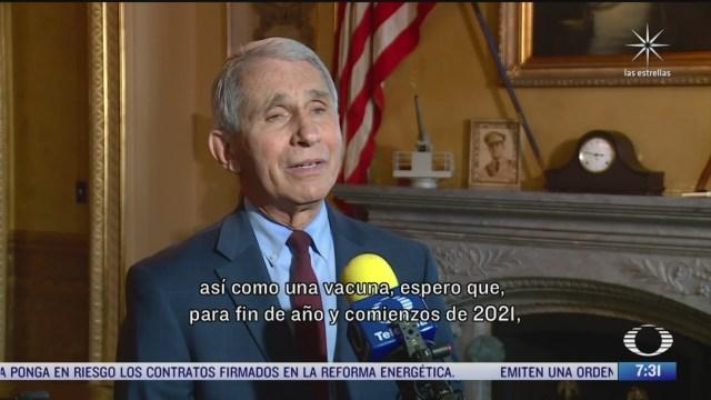 anthony fauci habla para noticieros televisa de las medidas sanitarias contra el covid