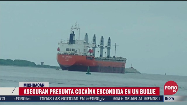 FOTO: 12 de julio 2020, aseguran 162 kilogramos de cocaina en lazaro cardenas michoacan