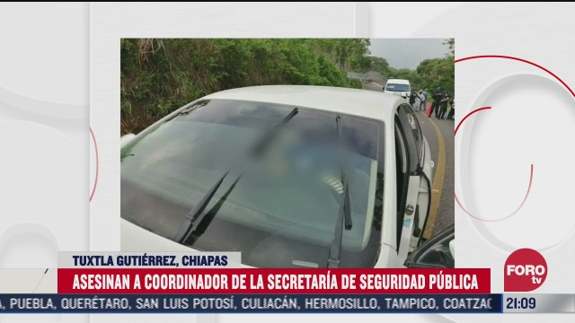 FOTO: 5 de julio 2020, asesinan a coordinador de seguridad publica de tuxtla gutierrez