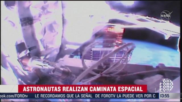 astronautas hacer reparaciones al exterior de la estacion espacial internacional