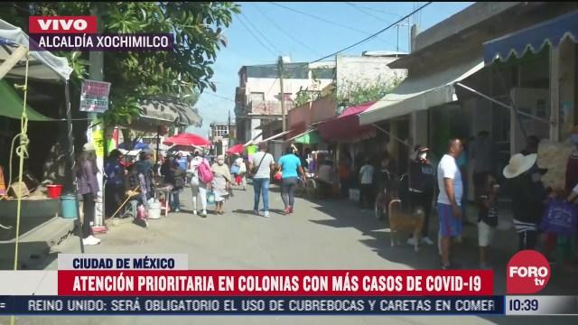 autoridades cdmx daran prioridad a colonias con alto contagio por covid