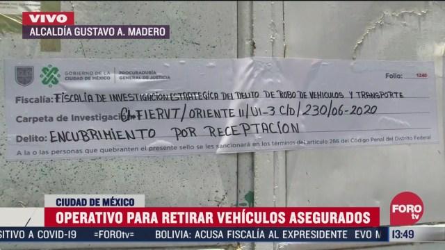 autoridades de cdmx realizara decomiso de vehiculos robados en la gustavo a madero