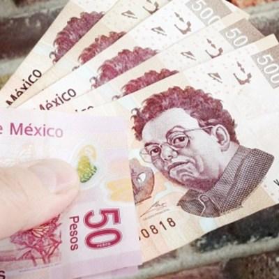 Billetes mexicanos, de 50 pesos y de 500 pesos