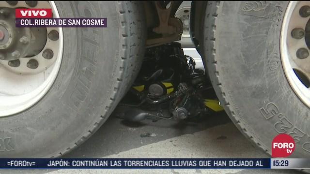 camion atropella a motociclista en cdmx