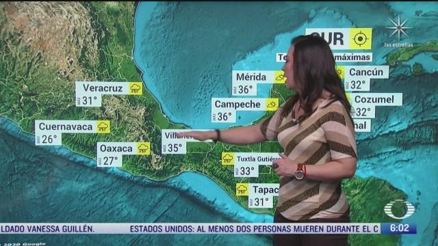 canal de baja presion provocara lluvias en michoacan guerrero oaxaca puebla y morelos
