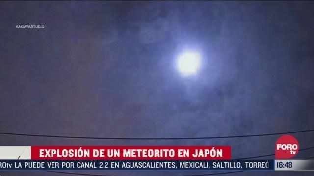 captan explosion de meteorito en japon