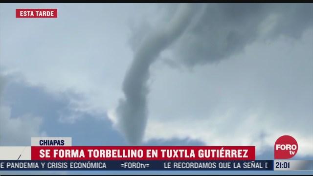 tornado en Tuxtla Gutiérrez Chiapas