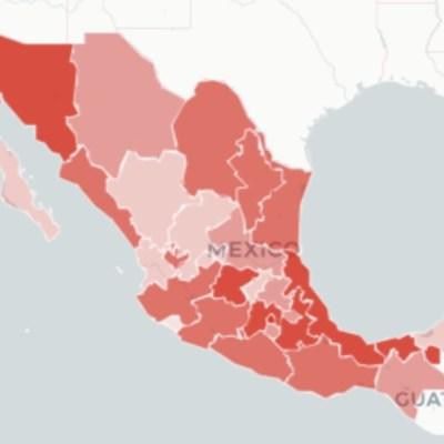 Mapa y casos de coronavirus en México del 18 de julio de 2020