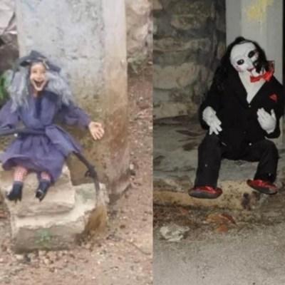 Muñecos espeluznantes causan alarma en Yucatán; pobladores queman uno