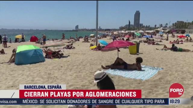 FOTO: 19 de julio 2020, cierran playas de barcelona por aglomeraciones de turistas